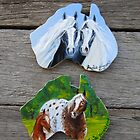 Gypsy Pair & Appaloosa fridge magnets by louisegreen