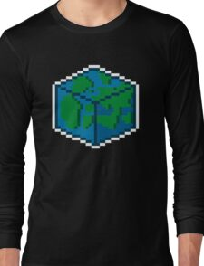 Pixel World White Line Long Sleeve T-Shirt