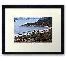 Pearl Beach from Mt Ettalong Lookout, NSW - 2013 Framed Print