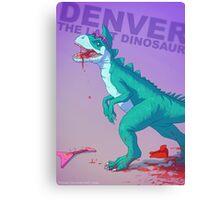 Denver the dinosaur Badass Canvas Print