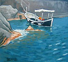Cinque Terre Fishing Boat by Robert Holewinski