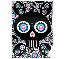 Mexican 'Day of the Dead' Skull Pattern Poster