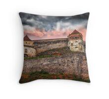 Fortress Rasnov Throw Pillow
