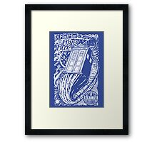A Mad Man and His Blue Box Framed Print