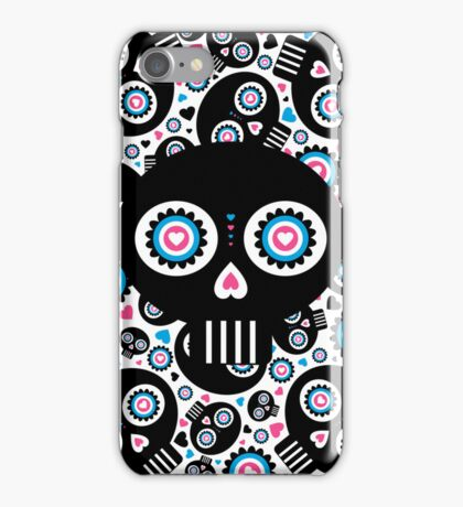 Mexican 'Day of the Dead' Skull Pattern iPhone Case/Skin