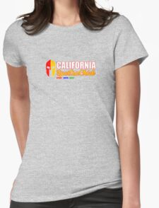 California Spartan Chick red/gold Womens Fitted T-Shirt