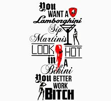 Lamborghini Martinis Hot Bikini Work Bitch Britney Spears Womens Fitted T-Shirt