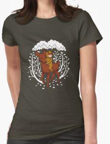 Deer Rider Womens Fitted T-Shirt