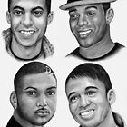 JLS in Black and white by Margaret Sanderson