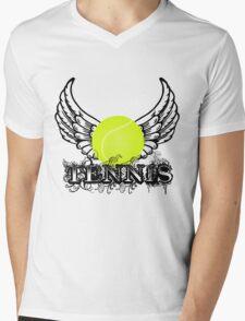 Tennis Wings Mens V-Neck T-Shirt
