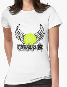Tennis Wings Womens Fitted T-Shirt