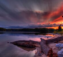 An evening at Lake of the Woods by Megan Noble