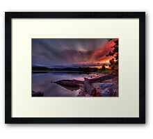 An evening at Lake of the Woods Framed Print
