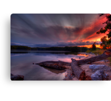 An evening at Lake of the Woods Canvas Print