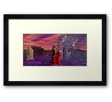 Catphrodite in the Burial Valley of the Red Wind - part 2 Framed Print