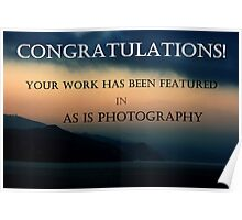 Featured In As Is Photography Poster