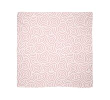 Swirls & Spirals | Abstract Waves | Rose Quartz & White | Pantone Color of the Year 2016 Scarf