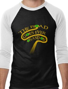 The Road Goes Ever On And On Men's Baseball ¾ T-Shirt