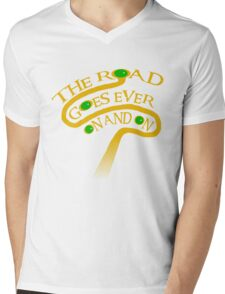 The Road Goes Ever On And On Mens V-Neck T-Shirt