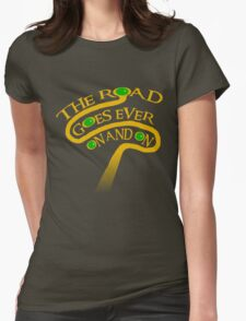 The Road Goes Ever On And On Womens Fitted T-Shirt