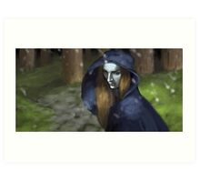 The White Queen as the night grows pale. Art Print