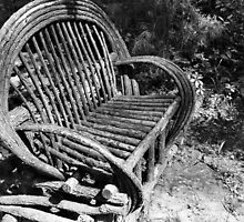 Bench at Rose Garden in Louisiana by Emily Rose