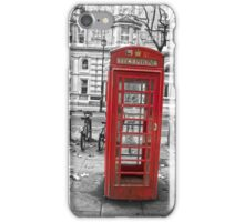 Red phone box, London iPhone Case/Skin