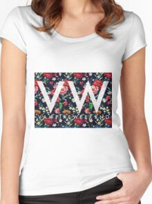 Vampire Weekend // MVOTC Floral Women's Fitted Scoop T-Shirt