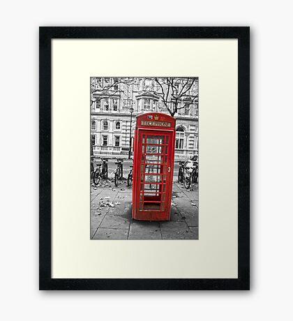 Red phone box, London Framed Print