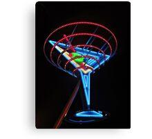 Neon Martini Canvas Print