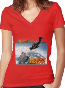 sky diving point break 2015 movie Women's Fitted V-Neck T-Shirt