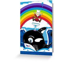 Cartoon Jonah & the Whale Greeting Card