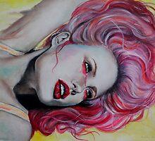 Pink Jolie by bellaharrisart