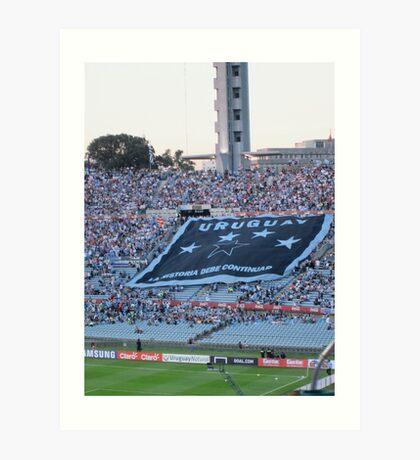 Uruguay- La Historia Debe Continuar Art Print