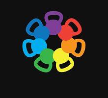 Rainbow Kettlebell Womens Fitted T-Shirt