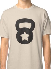 Black Kettlebell With A Star Classic T-Shirt