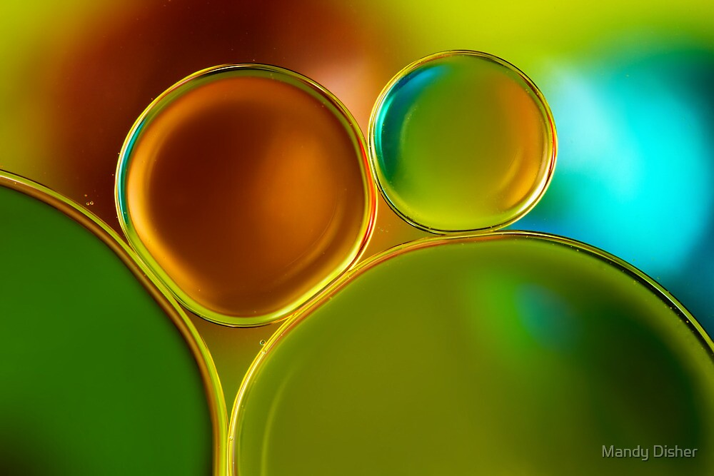 Oil and water by Mandy Disher