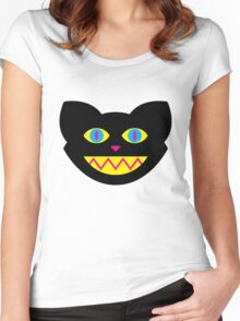 CMYBlack Cat head Women's Fitted Scoop T-Shirt