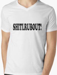 SHITLRUBOUT Mens V-Neck T-Shirt