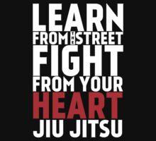 Learn from the street Jiu Jitsu RED Baby Tee