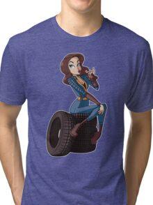 Nuka Cola Vault Girl Tri-blend T-Shirt