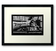 Perseverance ~ secret of all triumphs! Framed Print