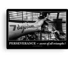 Perseverance ~ secret of all triumphs! Canvas Print