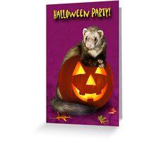 Halloween Ferret Greeting Card