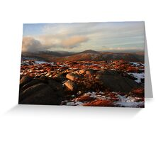 Warm Light On Cold Croaghnageer Greeting Card
