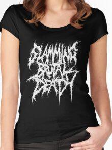 Slamming Brutal Death Metal Women's Fitted Scoop T-Shirt