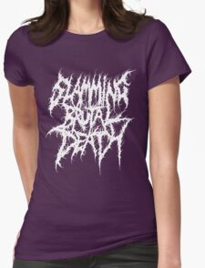 Slamming Brutal Death Metal Womens Fitted T-Shirt