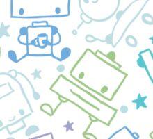 Doodle robots pattern Sticker