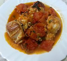 Baked Hake/Rock Salmon In Tomato Sauce by Michael Redbourn