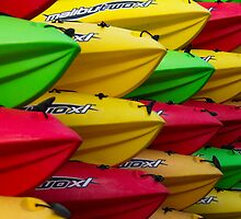 WDC.XXIII | Vibrantly Colored Kayaks  by Spencer McNeil
